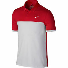 New listing NEW MEN'S NIKE GOLF DRI-FIT ICON COLOR BLOCK S/S POLO SHIRT RED/WHITE SIZE M