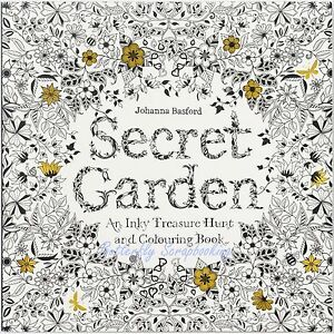 Image Is Loading SECRET GARDEN Coloring Book For Markers Amp Watercolors
