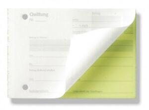 3x QUITTUNGSBLÖCKE 2x40 Blatt DINA6 selbstdurchschreibend Quittungsblock hilpert