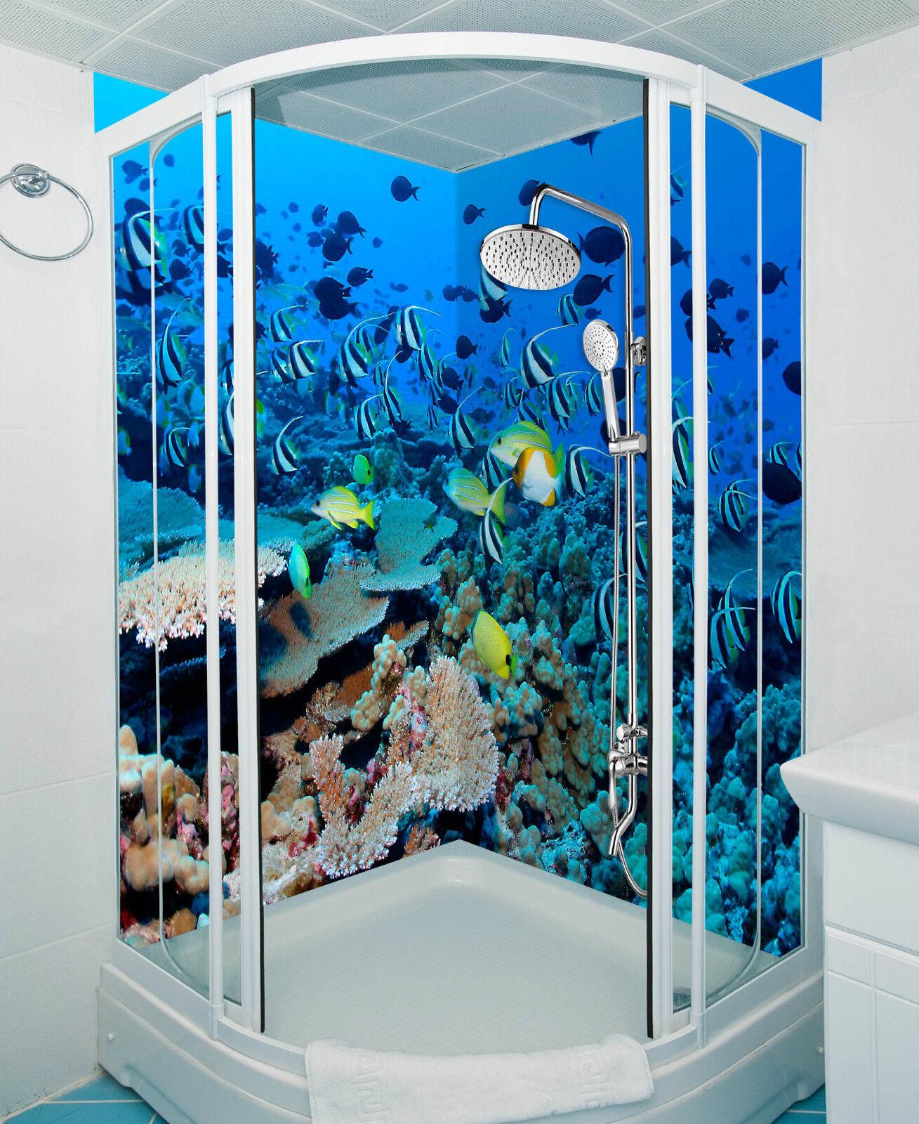 3D Sea Fishes Corals 21 WallPaper Bathroom Print Decal Wall Deco AJ WALLPAPER CA