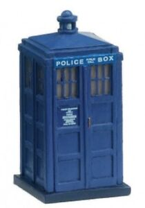 Hornby-R8696-Skaledale-Blue-Police-Box-1-76-Scale-00-Gauge-New-Carded-T48-Post