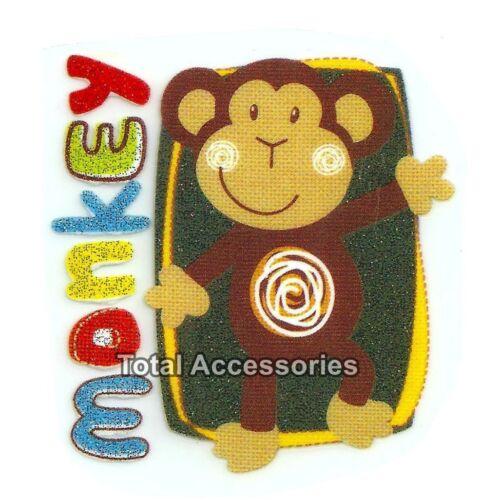 NEW Iron On T-Shirt Glitter Heat Transfer Cute Monkey Boy