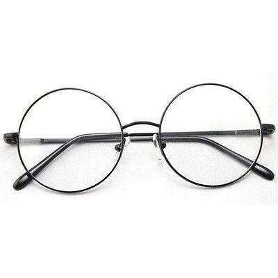 49mm Oversized Retro Vintage Harry Potter Black Round Eyeglass Frame Spectacles