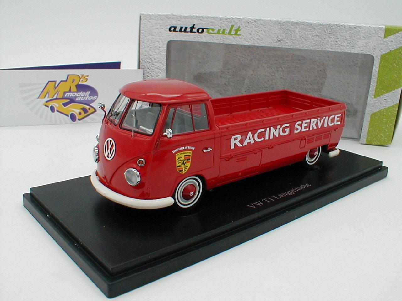 Autocult 07011-vw t1 LANGPRITSCHE année 1967  Porsche Racing Service  1 43 NEUF