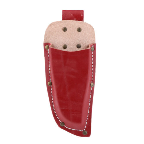 Thick Leather Pouch Bag for Pruning Shears Garden Scissors Sheath Red Brown