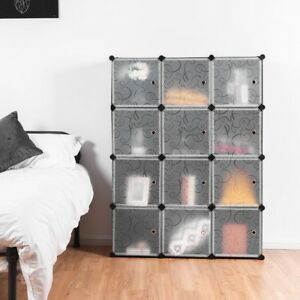 Details about Bedroom DIY 12 Cube Modular Portable Clothes Closet Wardrobe  Storage Organizer