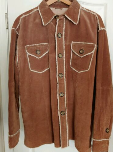 Scully Mens Suede Leather sherpa Lined Western Shi