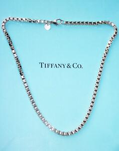 Tiffany-amp-Co-Plata-Veneciana-Eslabon-Collar-18-Pulgadas