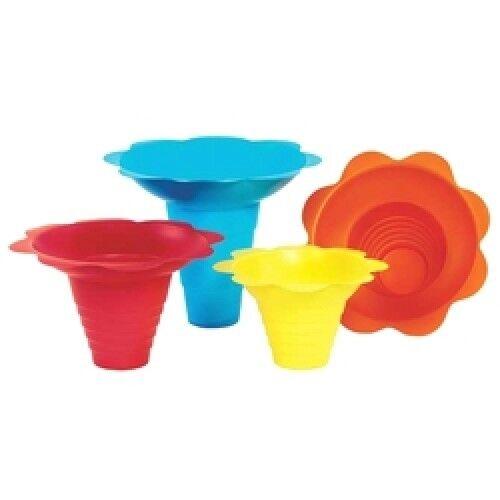 Fleur de neige cône tasses, neige papier de neige cône tasses, plastique neige tasses, cône tasses, 4 oz (environ 113.40 g), 8 oz (environ 226.79 g) d60412