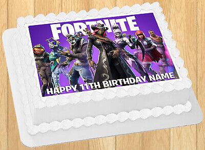 EDIBLE Fortnite Season 6 Cake Topper Image Wafer Paper ...