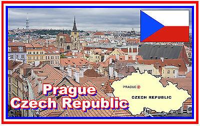 Souvenir Kühlschrank-magnet Brandneu Prag Tschechische Republik