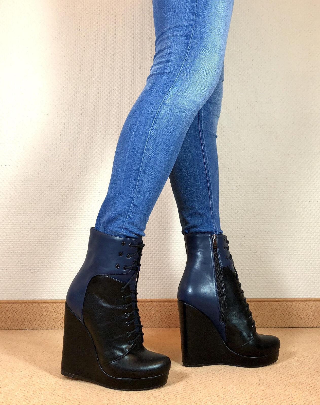 Talla 46 exclusivos zapatos señora botín de de de cuña bota botas hombres g1  respuestas rápidas