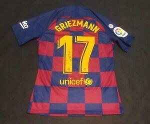 NO-MATCH-WORN-FCB-BARCELONA-GRIEZMANN-2019-2020-SIGNED-SHIRT-MAGLIA-SHIRT-SIZE-L
