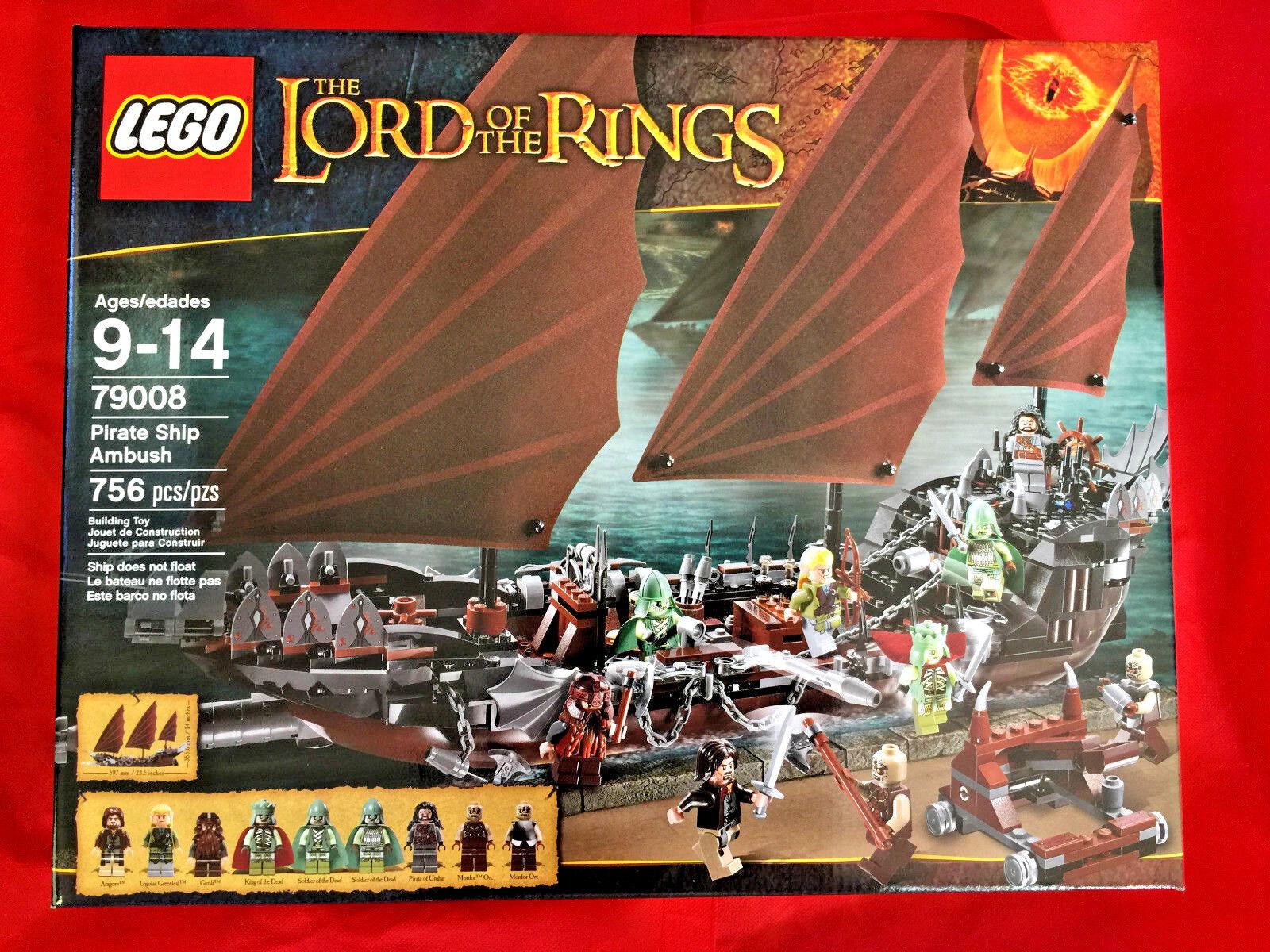 LEGO LORD of the RINGS LOTR PIRATE SHIP AMBUSH 79008 New Sealed RETIROT