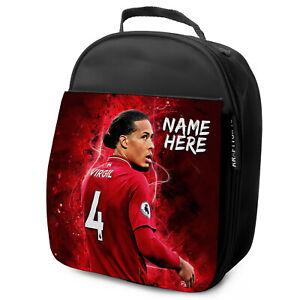 Van-Dijk-almuerzo-Liverpool-Utd-Escuela-Aislado-Ninos-Futbol-Personalizado-De-NL12