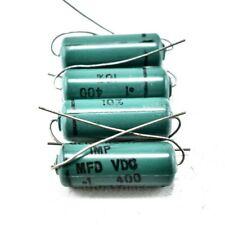 Lot Of 4x General Instrument Imp Axial Electrolytic Capacitors 1uf 400v