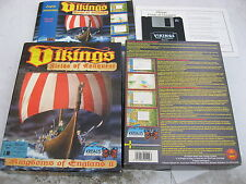 """PC VIKINGS BY KRISALIS BOXED WITH MANUAL SECONDHAND DOS 3 1/2"""" HD FLOPPY DISK."""