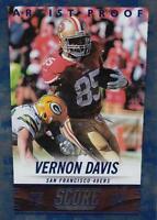 2014 Score Artist's Proof 190 Vernon Davis 49ers Ser 20/35 Sp