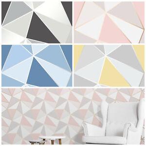 Image Is Loading Triangle Geometric Wallpaper Apex Modern Futuristic Rose Gold