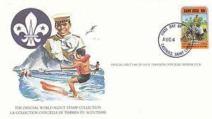 (90229) St Lucia Fdc Carte Scouts-castries 4 Août 1982-afficher Le Titre D'origine Activation De La Circulation Sanguine Et Renforcement Des Nerfs Et Des Os
