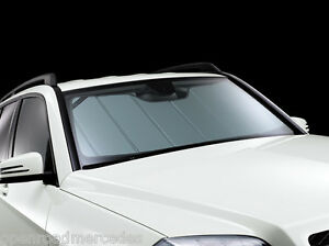 Oem genuine mercedes benz windshield sun shade uvs 100t 16 for Mercedes benz car cover oem