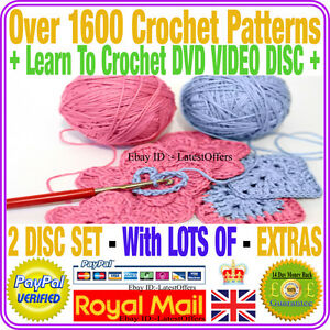 Crochet Learning : Crochet Patterns ladies baby toys dolls hats over 1600+ Learn to DVD ...