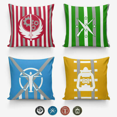Factions Pillow Cover Pillow Protector For Fallout4 40cm /& 45cm Pin Button