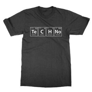 Techno Elementen T-Shirt Lustig Musik Electronic Band Dj Science Witz Geschenk
