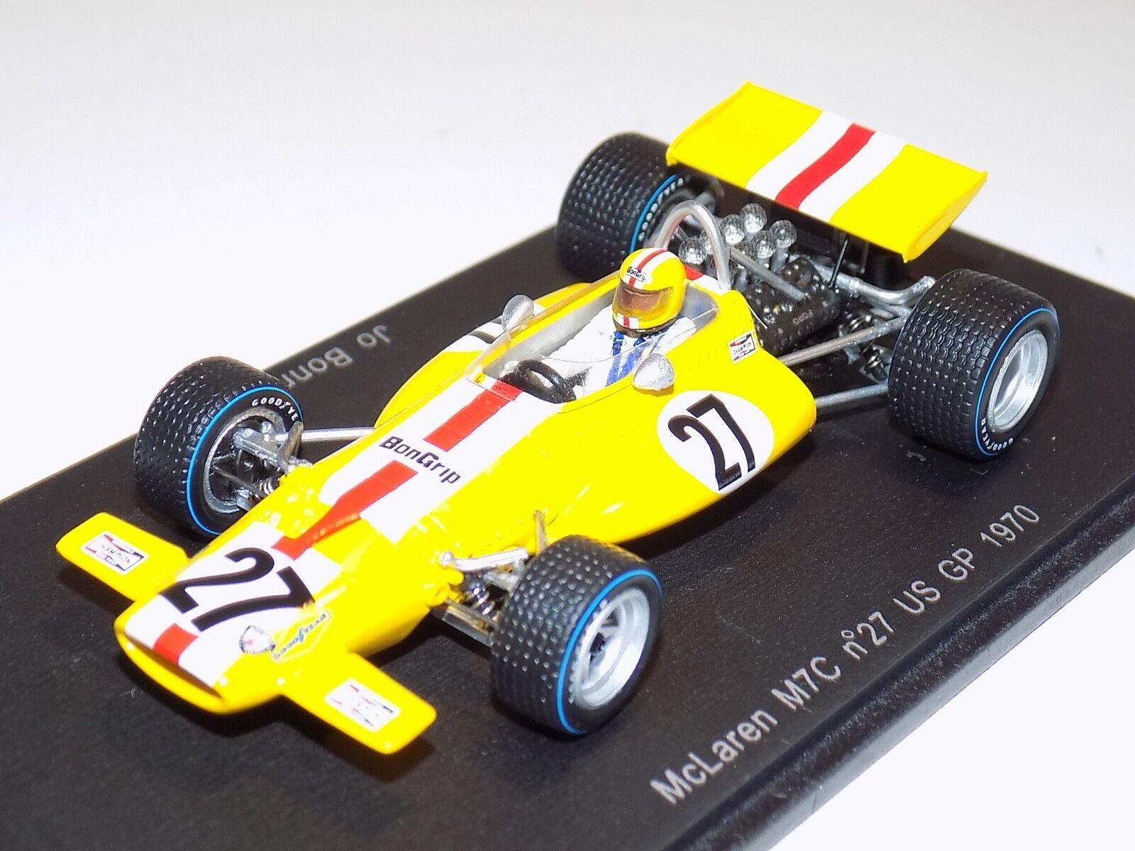 1  43 Spark McLaren M7C -bil US GP 1970 Jo Bonnier S3135