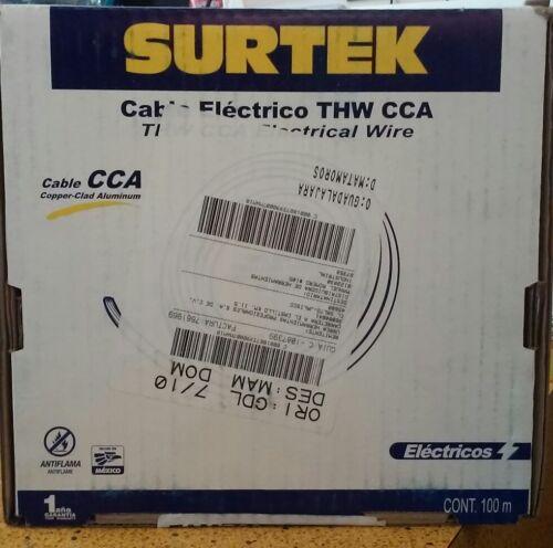 SURTEK 136948 THW CCA ELECTRICAL WIRE 12 GAUGE 100 METER