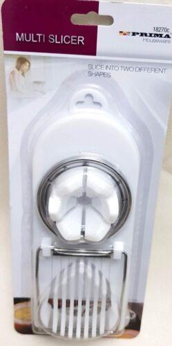 DOUBLE EGG SLICER STAINLESS STEEL BOILED EGGS CUTTER SLICE WEDGES X 1