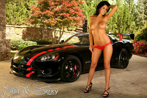 Hot-Topless-Brunette-with-ACR-Viper-Poster