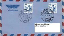 Dt. Schiffspost MS EUROPA 1988 WELTREISE Hapag-Lloyd Schiffsstempel Aerogramme