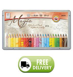 Koh-i-noor Triangular set of 24 Multicolored Pencils MAGIC 23+1/3408