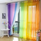 Multi-colors Door Window Curtain Drape Panel Scarf Assorted Scarf Sheer Voile