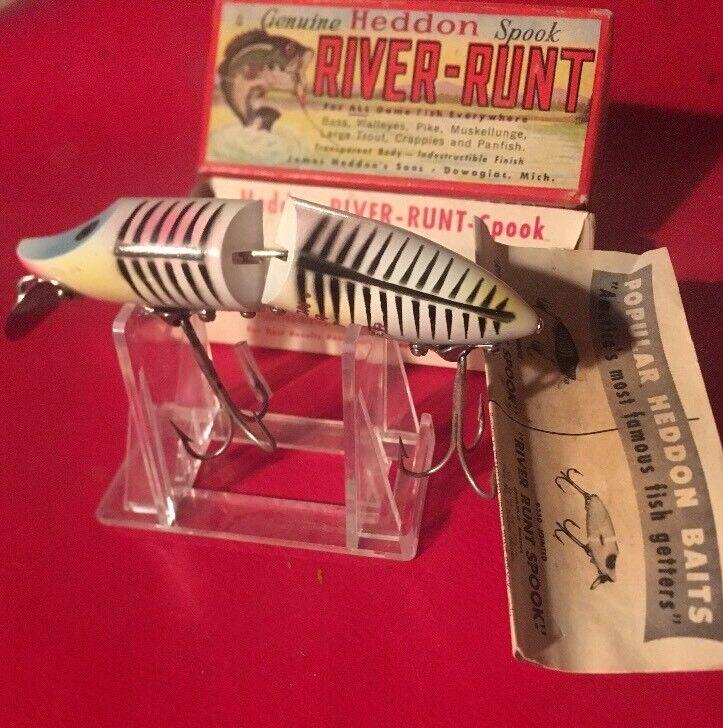 Nuevo En Caja Heddon 9430 xbp River Runt flotante N Caja Vintage Pesca Señuelos dowagiac Nuevo Viejo Stock