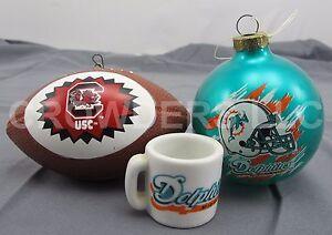 NFL Miami Dolphins Mini Mug & Christmas Ornament + NCAA USC ...