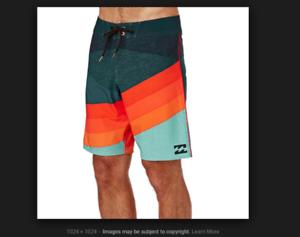 a33f09ed87 NEW BILLABONG swim board shorts sz 30 36 38 orange teal SLICE X trunks  bluee nwxcsy799-Swimwear