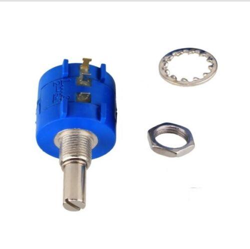 3590S Precision Wirewound Potentiometer 500R1K2K5K10K20K50K100K Ohm Pot 10Turn L