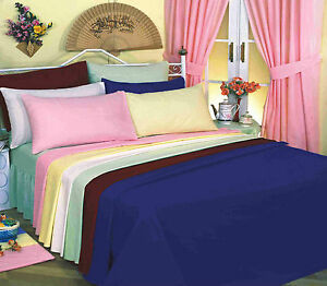 Love2sleep Plain Dyed 50 50 Poly Cotton Fitted Sheet All