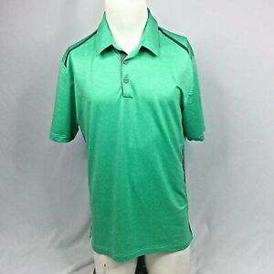Adidas-Golf-ClimaCool-Polo-Shirt-Mens-Medium-Green-Stretch-Athletic-Short-Sleeve