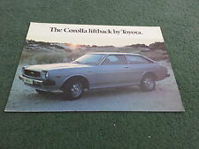 1976 1977 TOYOTA COROLLA LIFTBACK 1200 - UK FOLDER BROCHURE