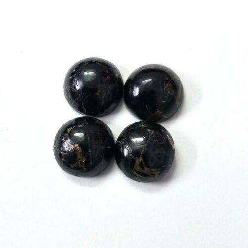 Details about  /Natural Black Copper Turquoise Round Shape Cabochon Loose Gemstone 3mm To 5mm