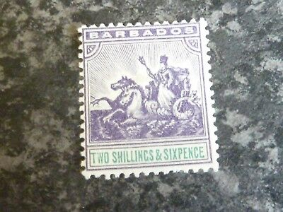 Sporting Barbados Postage Stamp Sg144 2/6d Vlmm Chills And Pains Barbados (until 1966)