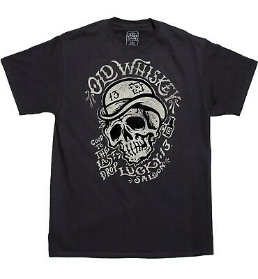 Lucky 13 Old Whiskey Biker Tattoos Gothic Punk Skull Face ...