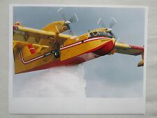 PHOTO PRESSE AVION CANADAIR CL-415 AMPHIBIAN FIRE MEDITERRANEAN AIR SERVICE