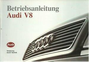 AUDI-V-8-Betriebsanleitung-1990-Bedienungsanleitung-Handbuch-Bordbuch-BA