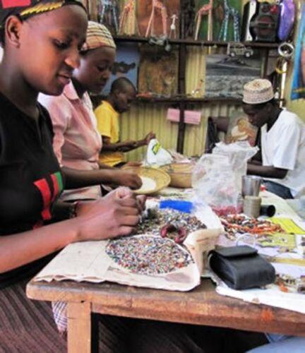 Tusker Lager Recycled Beer Bottle Top Disc Earrings Handmade in Kenya Eco Gifts
