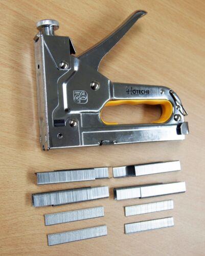 H.D 2 Lot of 3 in 1 Hand Staple Gun Tacker Chromed with 1200 Staples