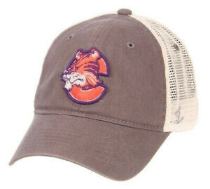 CLEMSON-TIGERS-NCAA-1978-LOGO-MESH-SLOUCH-TRUCKER-SNAPBACK-Z-WASHED-CAP-HAT-NWT